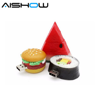 %100 pendrive cartoon Korean sushi pendriver 8gb  usb flash drive dishes gift external storage free shipping