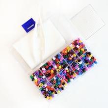 5 mm(mix color 1000pcs) beginner Set Fuse/perler/pix/hama/iron/melty/melting beads DIY Educational kids Craft toys DIY jewelry