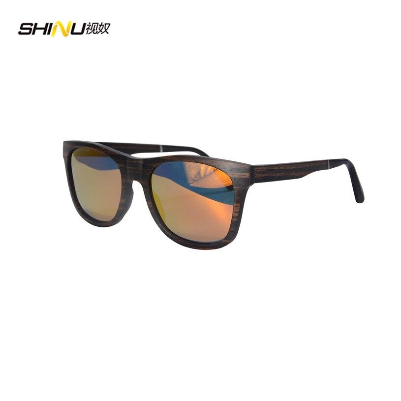 Kleine Großhandel Skateboard Holz Sonnenbrille Frauen Männer Mode Handgefertigte Holzrahmen Polarisierte Gläser Sh73007
