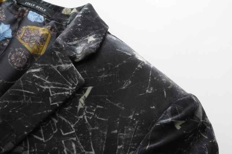 Умный повседневный мужской костюм платье, блейзер печатная версия пчела граффити пятно мужской пэчворк Новое поступление на заказ темные костюмы