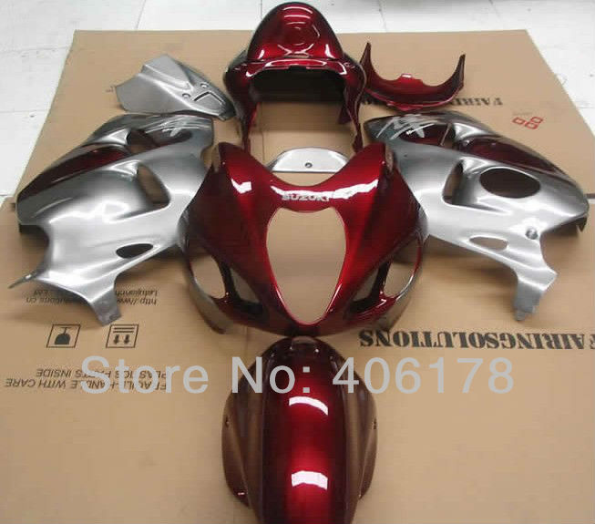 Hot Sales,Cheap Fairing For Suzuki GSXR1300 Hayabusa 1999-2007 Red and Silver Sport Motorcycle Fairings (Injection molding) цена 2017