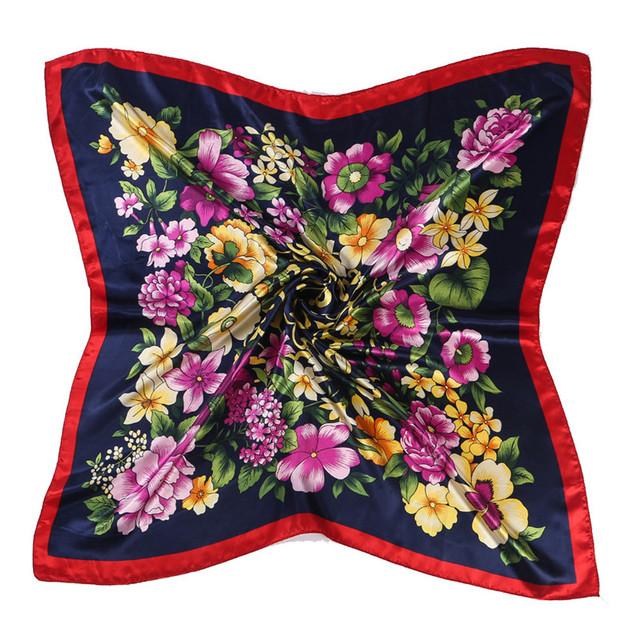 Elegant Floral Printed Square Scarf