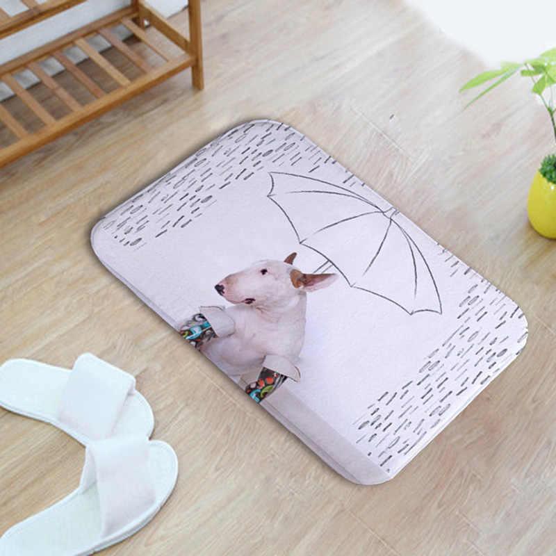 Interesante salchicha Basset gran ojo Husky Poodle Corgi Greyhound perro Bichon perro Pug Pit Coral polar alfombra de baño