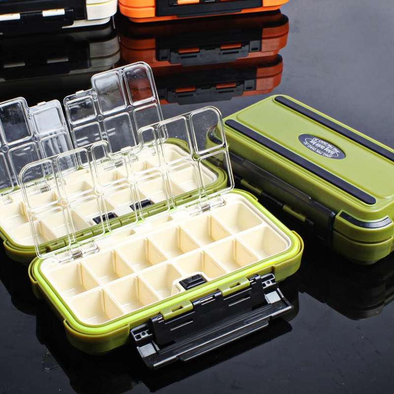 20CM Fishing Tackle Box 28 Grids Compartments 4Color Fish Lure Line Hook Fishing Tackle Fishing Accessories Box 3