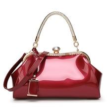 купить High Quality Patent Leather Women Shoulder Bags Lady Handbags Luxury Evening Women Messenger Bags Famous Brands Female Tote Bag по цене 1570.09 рублей
