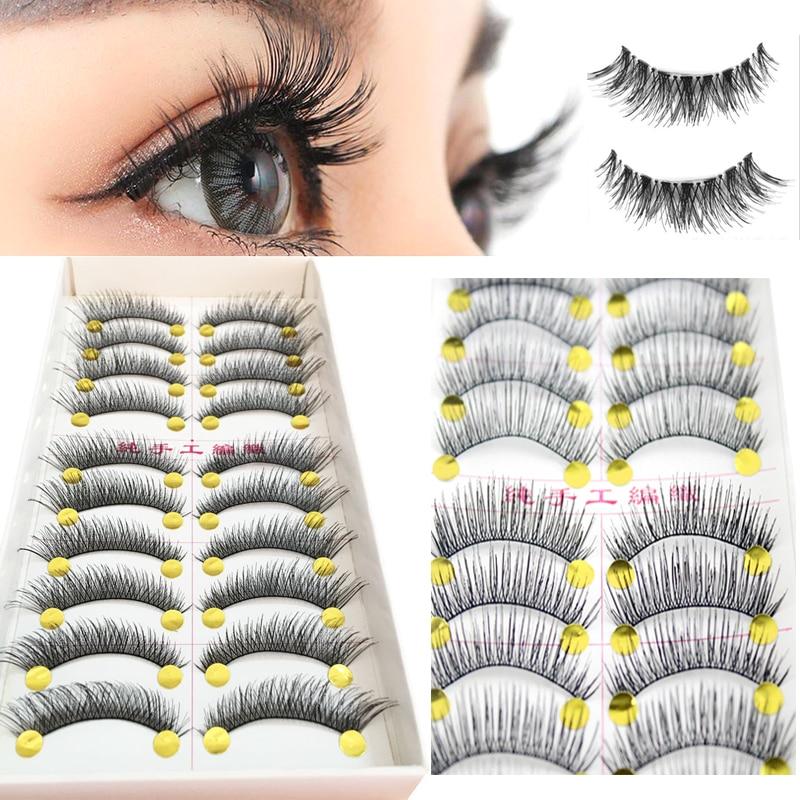 10 Pair Professional False Eyelashes Wimpers Fake Eyelashes Eye Lashes Natural Long Eyelash Extension Faux Cils Makeup
