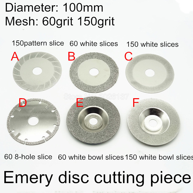 4 Inch 100MM Round Glass Grinding Wheel Diamond Cutting Saw Blade Resin Disc Rotary Abrasive Tools For Ceramic Cut Off Discs
