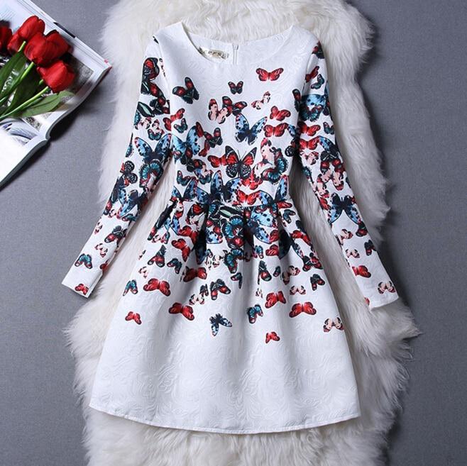 d3e229485e9 Vestidos de Fiesta estampados a la moda para adolescentes Niñas Ropa de  talla 16 20 años grandes chicas primavera otoño 15 colores vestido de  vacaciones en ...