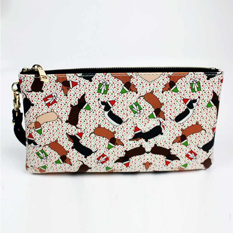 women leather wallet printing sweet women handbag female Wallet birthday gift