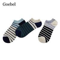 Goebel Summer Simple Socks Man Stripe Fashion Men Invisible Socks Shallow Mouth Simple Male Short Tube