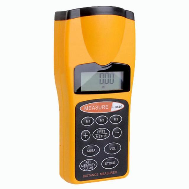 Volume tool CP-3007 Plastic+Metal 0.05 18m Digital Laser distance meter Rangefinder Range finder Tape measure Area