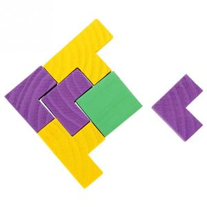 Image 5 - 3D ahşap yapbozlar Tangram Jigsaw kurulu oyuncaklar zeka çocuk bulmacaları oyuncak oyunu eğitici bebek oyuncakları ahşap hediyeler