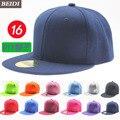 2016 men solid hip-hop cap male leisure baseball cap women brim straight snapback female leisure chapeau unisex bone discount