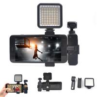 LED Flash Fill Light Aluminum Alloy Phone 126g Black Clip Accessories for OSMO Pocket