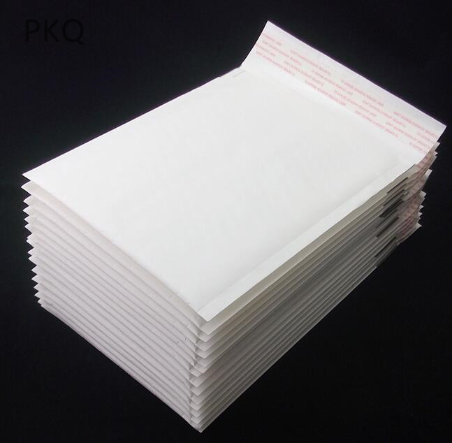 Image 3 - 100pcs/lot Wholesale Kraft Bubble Mailers Padded Envelopes Packaging Shipping Bags White Bubble Mailing Envelope Bags-in Paper Envelopes from Office & School Supplies