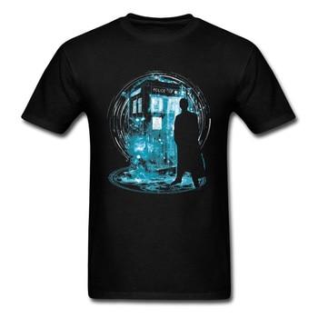 футболка print bar doctor who evolution Doctor Who Tardis Tshirts 3D Print Dr Who Dalek Designers T Shirt Cotton Black Fashion Clothing Exterminate SpaceShip Tees Man