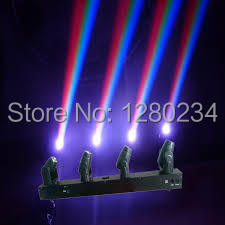 christmas lights moving head 4 heads 10w rgbw 4 in led beam bar stage light mini led dmx disco lighting for party show in stage lighting effect from lights