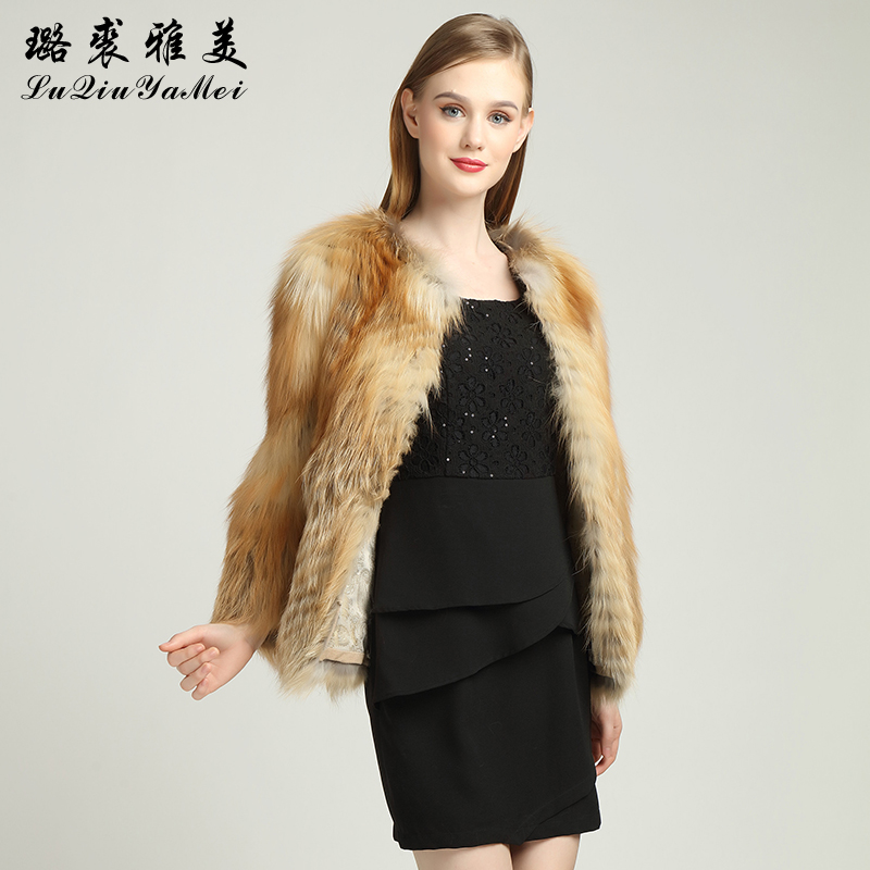 Red Fox Fur Coats Weibliche Naturfuchsfelljacken Short Style Can - Damenbekleidung - Foto 3