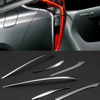 SUS304 tylne światła tylne ze stali nierdzewnej pokrywa odlewnictwo wykończenia akcesoria dla Toyota Prius XW50 2015-2017 tanie i dobre opinie