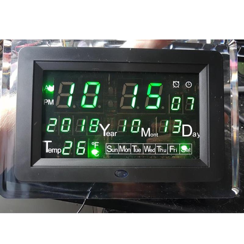 ECL-1227 0.5 inch Red Green Blue DIY Electronic Clock DIY Kit Calendar Temperature English Panel Display DIY Electronic Clock ymm 25x48mm diy 13060358