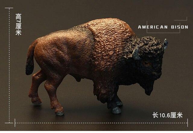 Original Wild Life Zoo Animal Model Figure American Bison