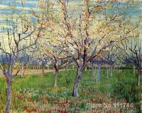 oil reproduction Orchard with Blossoming Apricot Trees by Vincent Van Gogh Canvas Painting Hand painted High quality