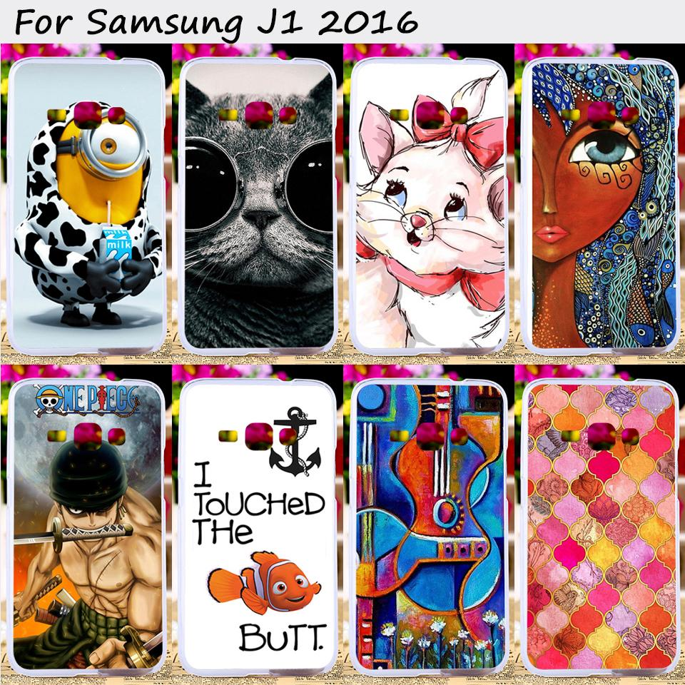 TAOYUNXI Soft TPU Silicones Cell Phone Cover For Samsung Galaxy j1 2016 J120 J120F J120H Case Lovely Animal Protective Sheath