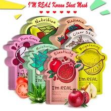 I'm REAL Tony mony маска для лица увлажняющая маска для лица контроль жирности отбеливание сокращение пор Корейская листовая маска для лица Уход за кожей