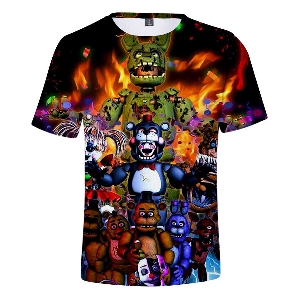 a78f3275 Frdun Tommy Five Nights at Freddy 3D T-shirt 2018 Men/Women Summer Tshirt