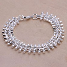 2016 Hot Silver Color Jewelry bracelet, silver plated wristlet vintage-accessories Fish Bone Bracelet /XYDONVSJ QGBEDPTXI
