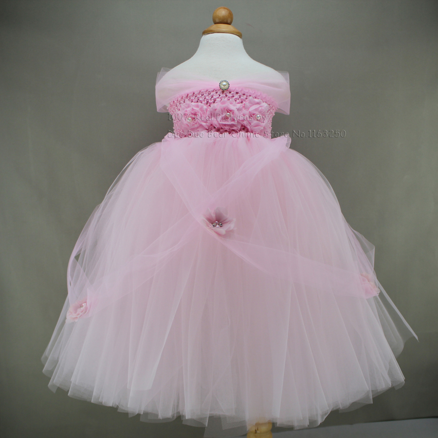 2016 new pink baby girl princess tutu dress 12 month girl