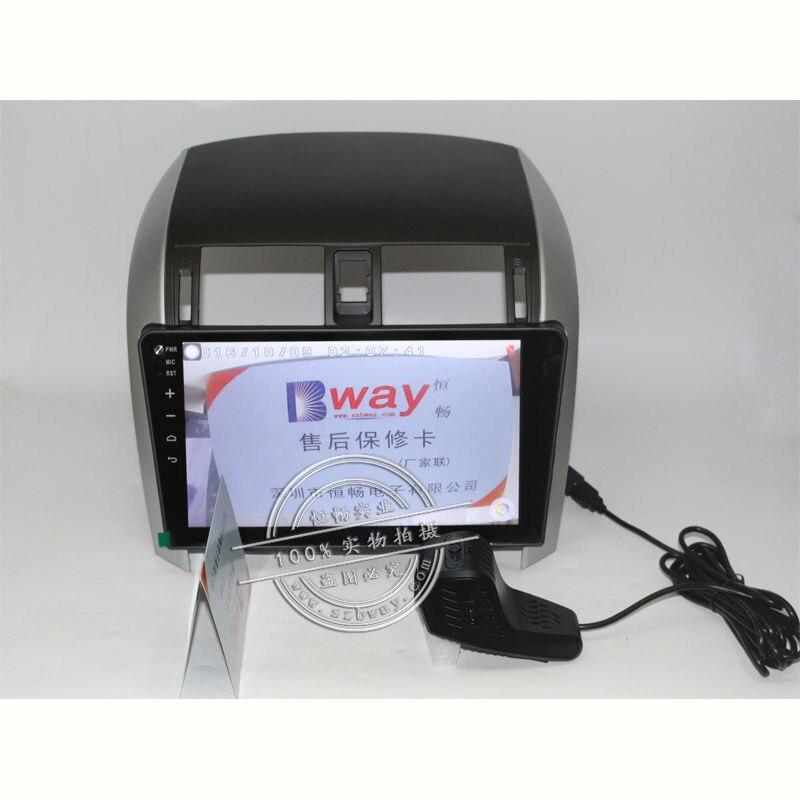 """""""Bway 10.2"""" automobilinis radijas TOYOTA COROLLA 2007 2008 2009 - Automobilių Elektronika - Nuotrauka 4"""