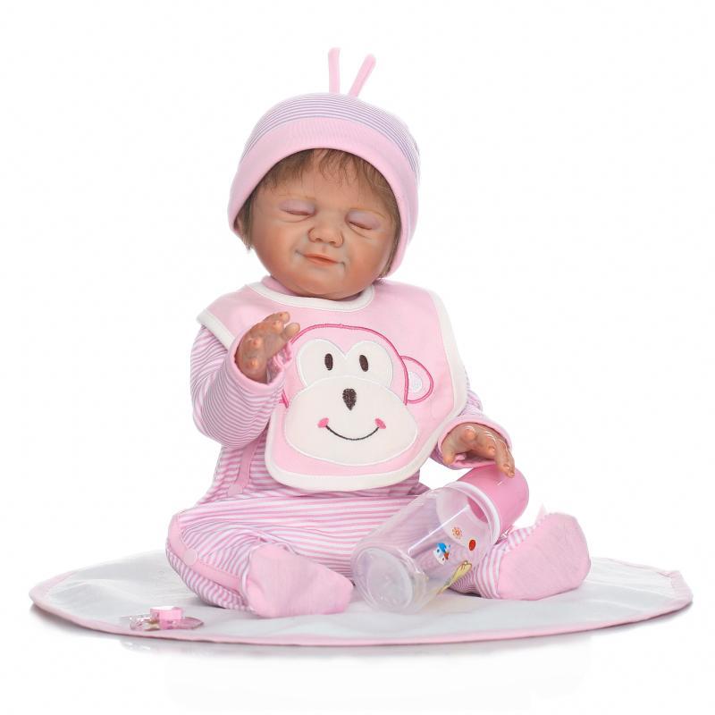 Poupées en silicone 22 pouces reborn poupée avec vêtements bebe reborn fille poupées