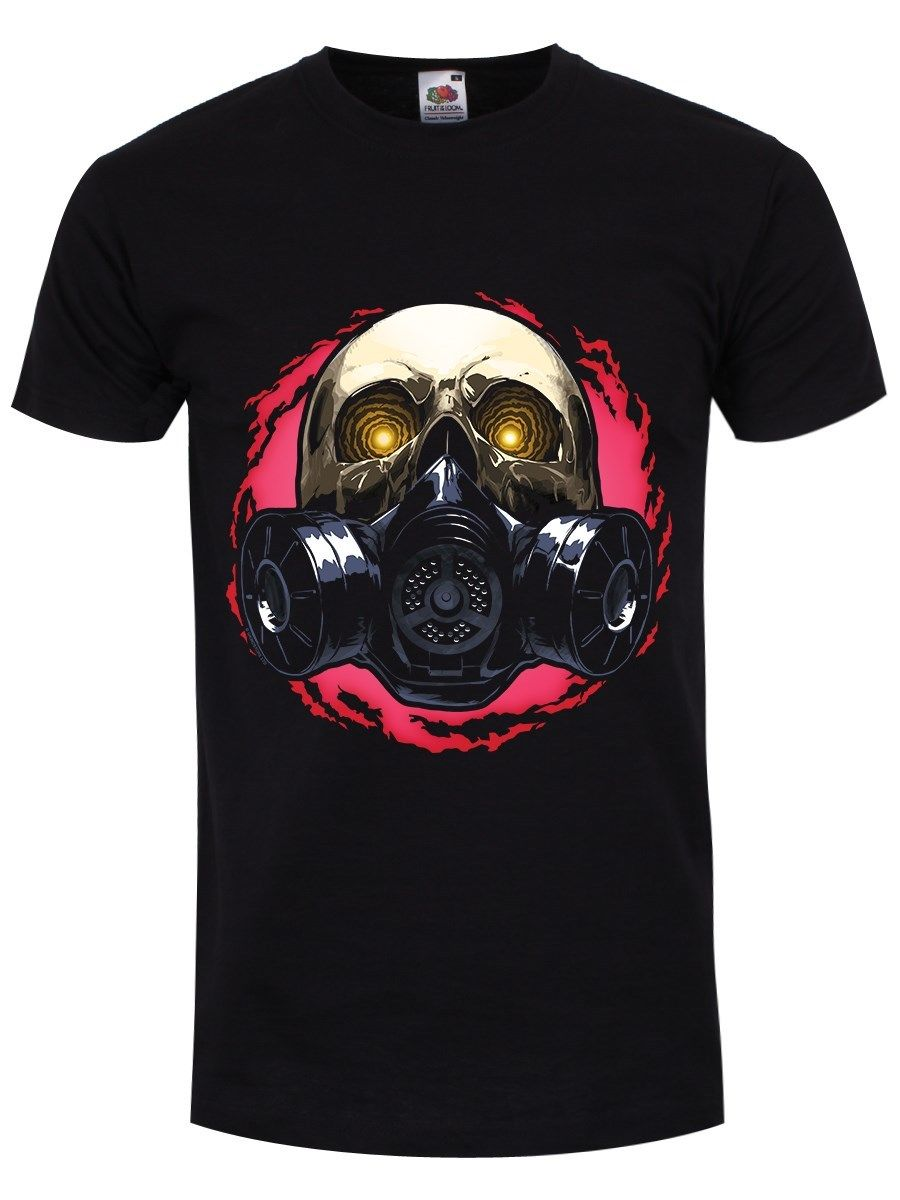 Tops & Tees T-shirts Melting Skull Gas Mask Goth Rock Hardcore Tshirt Men Funny T Shirt Women Cool Tshirt Retro