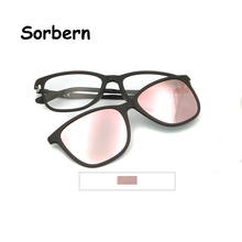 High Quality Polarized Clip On Sunglasses Ultem Glasses Frame Women Optical Myopia Round Magnetic Sexy