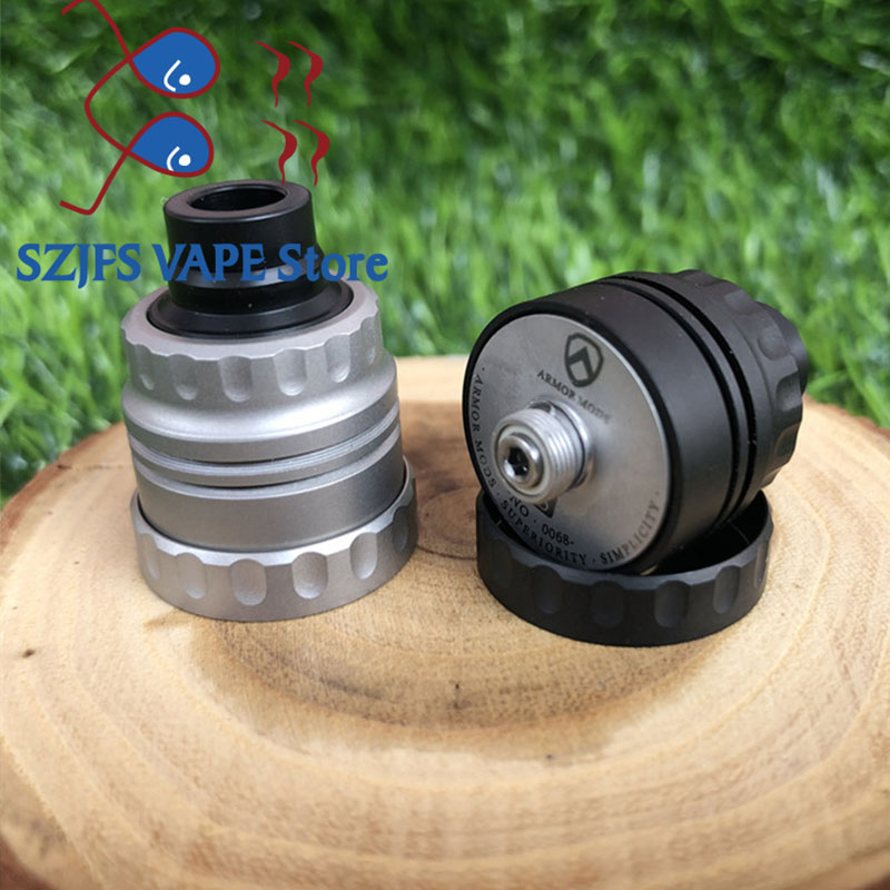 Armor S Styled RDA Rebuildable Dripping Atomizer With Bf Pin 22mm  316 Ss 510 Thred Top Oiling Diy Edc Atty Vs Sxk GOON Rda