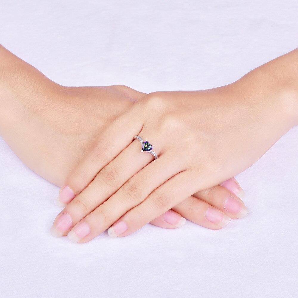 Jrose heart ladies jewelry CZ colorful 100% solid 925 standard ...