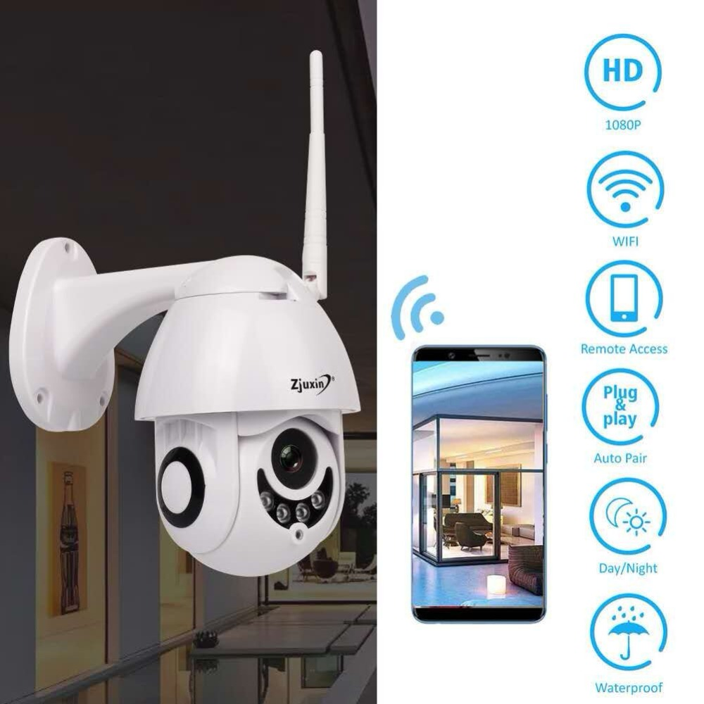 WIFI Caméra Extérieure PTZ IP Caméra 1080 p Vitesse Dôme CCTV Caméras de Sécurité IP Caméra WI-FI Extérieur 2MP IR Accueil surveilance ip cam