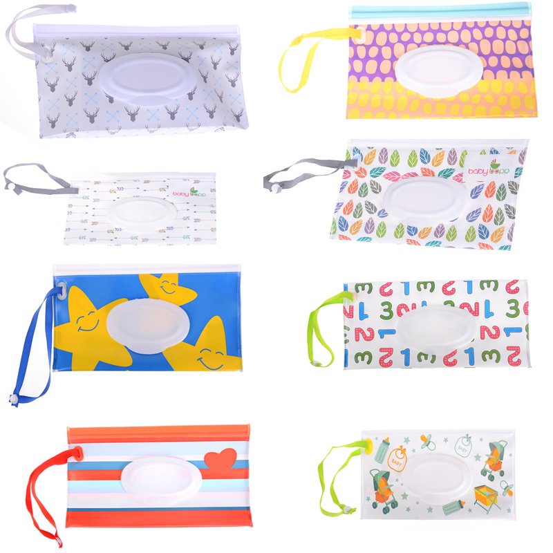 Changing Pads & Covers Intelligent Wipes Carrying Case Eco-friendly Wet Wipes Bag Clamshell Cosmetic Pouch Easy-carry Snap-strap Wipes Container A Great Variety Of Models