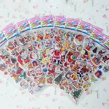 5pcs lot Christmas Santa Claus Puffy Cartoon Stickers Scrapbook For Boys and Girls Decorative Beautiful Foam Sticker Classic Toy cheap 6 75CM 16 9CM 0 01KG