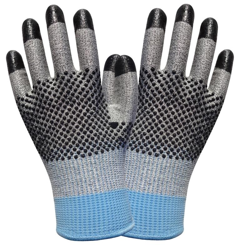 Rukavice odolné proti proříznutí z nerezové oceli, 2 páry, rukavice z aramidového vlákna, pracovní rukavice HPPE, ochranné rukavice proti proříznutí