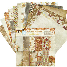 DIY autumn garden style Scrapbooking paper pack of 24 sheets handmade craft paper craft Background pad(China)
