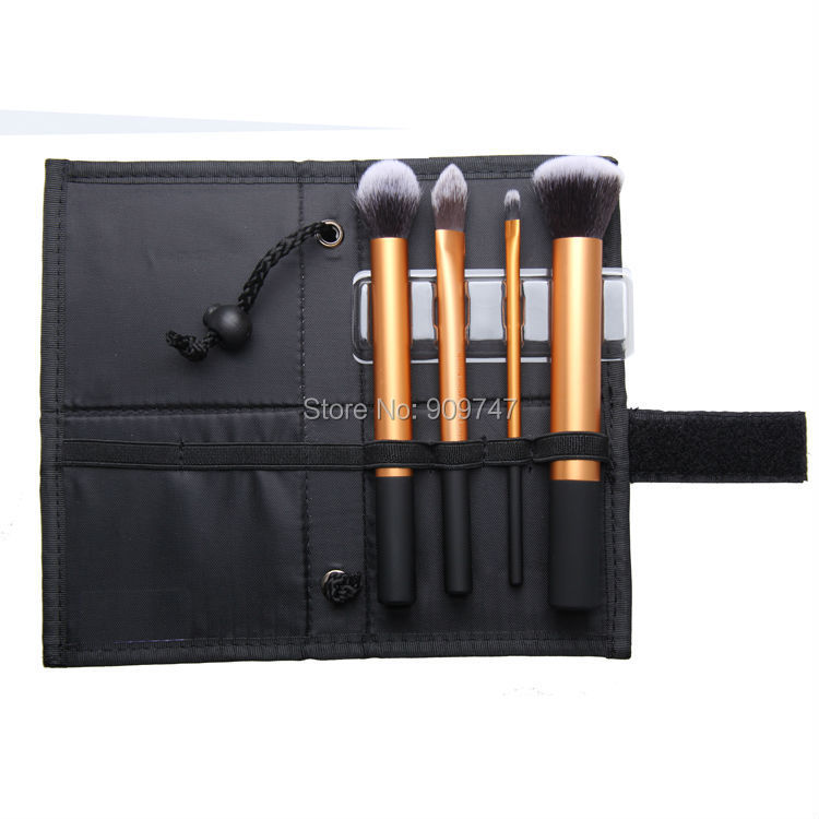 Beauty Golden Black Professional 4 PCS/Set Salon Party Home Use Eyeshadow Makeup Brush Cosmetic Tool Brushes With Case beauty golden black professional 4 pcs set salon party home use eyeshadow makeup brush cosmetic tool brushes with case