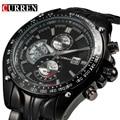 New casual curren relógios homens top de luxo da marca homens relógio militar masculino completa aço relógios de pulso moda esporte relogio masculino