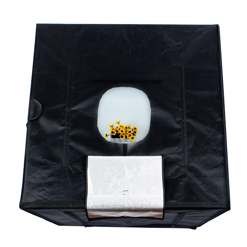 Image 4 - 80cm*80cm/31.5inch*31.5Inch Photo Tent Table Photography Soft Box Kit LED light Aluminium   reflection fabric inside-in Photo Studio Accessories from Consumer Electronics
