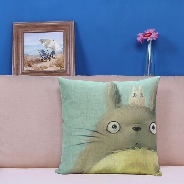 2016 Hot Sale Hayao Miyazaki Totoro Cotton linen Pillow ...