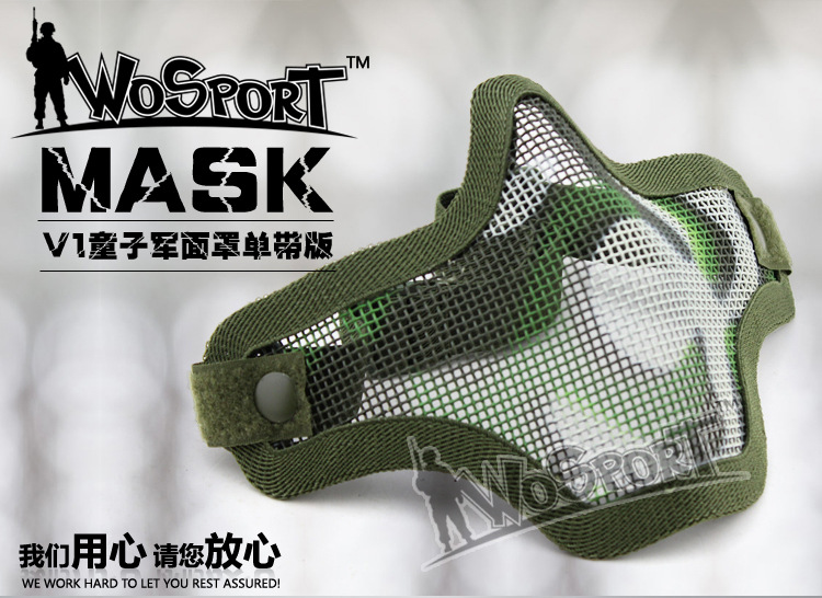 Mask Mouth Guard Wire With Single Semi Face Protection Field Pure Riding Mask  Field Of Outdoor Equipment Tactical Mask Live CS