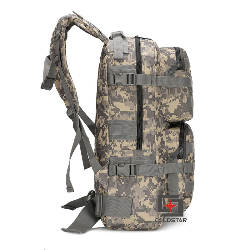 ФОТО ACU Color Spring Summer New Canvas Hiking Bag Men's Tactical Military Backpack Solid School Bags Women Mountaineering Backpack