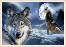 [Super deals]New mosaic Full diamond Painting embroidery beads Celestial Wolf Moon Woman Dream diamonds cross stitch full laids