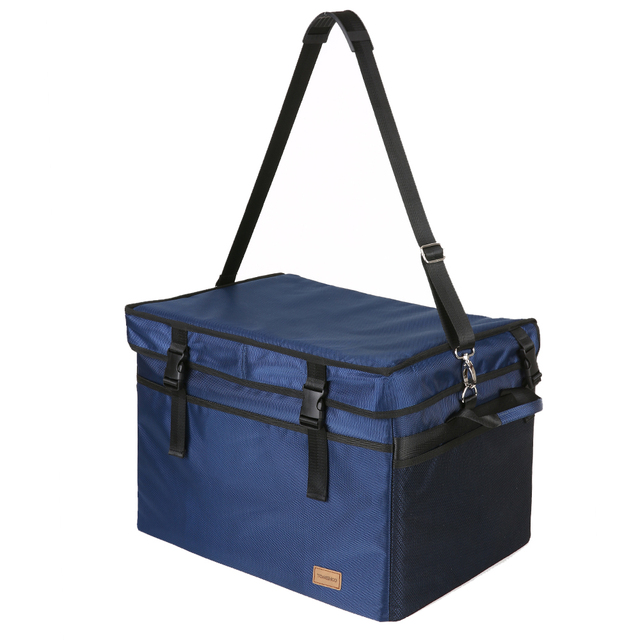 TOMSHOO 47/70L Large Capacity Insulated Lunch Bag Foldable Food Fresh Keep Cooler Grocery Bag Outdoor Travel Picnic Food Bag Box